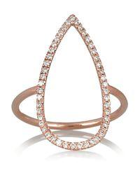 Diane Kordas - Pink Teardrop 18karat Rose Gold Diamond Ring - Lyst