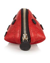 Gucci | Red Lady Bug Leather Coin Purse | Lyst