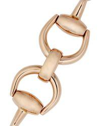 Gucci - Pink 18karat Rose Gold Horsebit Bracelet - Lyst