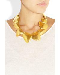 Herve Van Der Straeten - Metallic 24karat Goldplated Necklace - Lyst