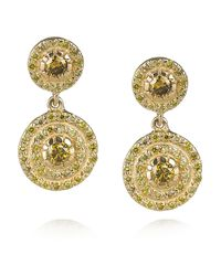 Ileana Makri | Metallic Diamond Art Deco Style Earrings | Lyst