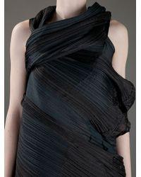 Issey Miyake | Black Draped Dress | Lyst
