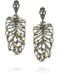 Loree Rodkin | Feather 18karat Rhodium White Gold and Diamond Earrings | Lyst