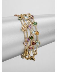 Marco Bicego | Metallic Semi Precious Multi Stone Five Strand 18k Gold Bracelet | Lyst