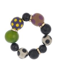 Marni   Multicolor Resin and Wooden Beaded Bracelet   Lyst