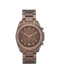 Michael Kors | Brown Chronograph Bronze Tone Stainless Steel Bracelet 39mm | Lyst