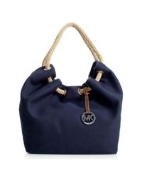 Michael Kors | Blue Michael Marina Large Shoulder Tote | Lyst