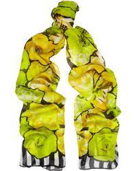 Roberto Cavalli | Multicolor Printed Silk Scarf | Lyst