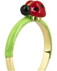 Solange Azagury-Partridge - Green Ladybird 18karat Gold Ring - Lyst