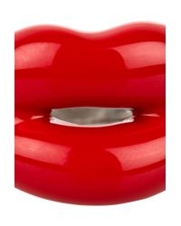 Solange Azagury-Partridge - Metallic Hot Lips Lacquered Sterling Silver Ring - Lyst