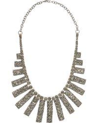 Valentino | Metallic Goldplated Swarovski Crystal Bib Necklace | Lyst