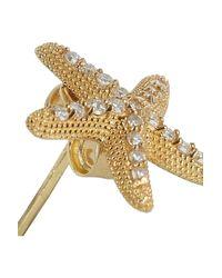 Vanessa Kandiyoti - Metallic 18karat Gold Diamond Starfish Earrings - Lyst