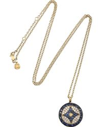 Vanessa Kandiyoti | Metallic Large 18karat Gold Diamond and Sapphire Evil Eye Necklace | Lyst