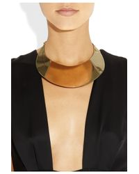 Saint Laurent - Metallic Purefly Goldtone Necklace - Lyst