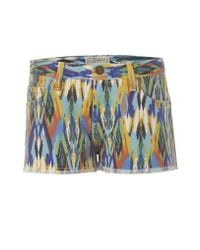 Current/Elliott | Multicolored Arrow Printed Boyfriend Short | Lyst