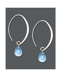 Hue | White Blue Topaz Briolette Earrings | Lyst