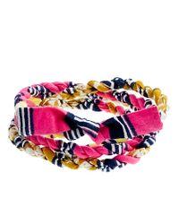 J.Crew - Pink Indego Africa For Jcrew Cloth Wrap Bracelet - Lyst