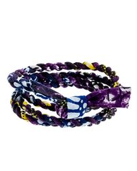 J.Crew | Blue Indego Africa For Jcrew Cloth Wrap Bracelet | Lyst