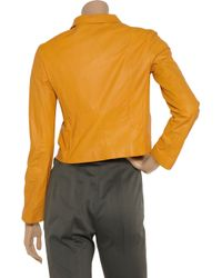 Jil Sander - Yellow Leather Jacket - Lyst