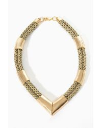 Nasty Gal | Metallic Koko Rope Necklace | Lyst
