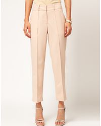 ASOS Collection | Pink Asos Trousers in Straight Leg | Lyst