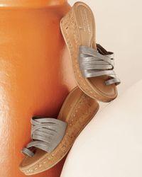 Donald J Pliner - Natural Cork Wedge Slide - Lyst