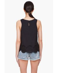 Marc By Marc Jacobs - Black Palmetto Eyelet Tank Top - Lyst