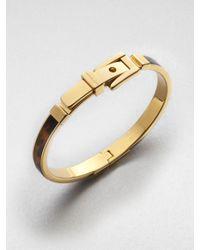 Michael Kors | Metallic Tortoise-Pattern Buckle Bangle Bracelet | Lyst