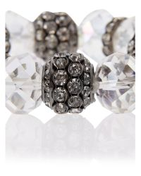 Mikey - Metallic Crystal Large Bead Bracelet - Lyst