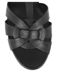 Saint Laurent - Black 'tribute' Sandals - Lyst