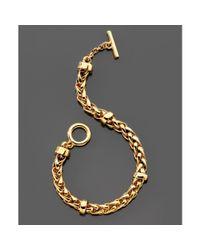 Ralph Lauren | Brown Lauren Ralph Lauren Goldtone Woven Toggle Bracelet | Lyst