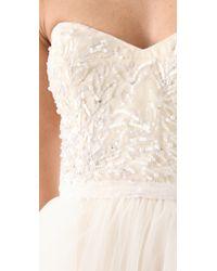 Reem Acra | White Eternity Dress | Lyst
