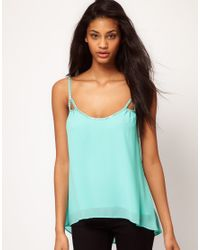 TFNC London | Green Beaded Strappy Cami | Lyst