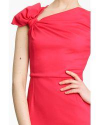 Valentino | Pink Fine Wool Bow Dress | Lyst