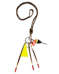 ASOS | Multicolor Asos Lanyard and Spike Drops Necklace | Lyst