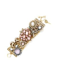 Betsey Johnson Metallic Heart Toggle Bracelet