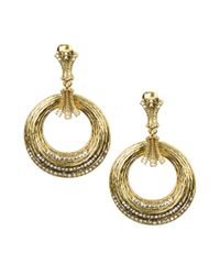 Jones New York | Metallic Gold Tone Door Knocker Clip On Earrings | Lyst