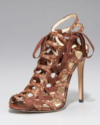 B Brian Atwood | Brown Corset Sandal | Lyst