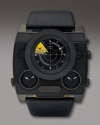 DIESEL | Black Three-zone Sonar Watch for Men | Lyst
