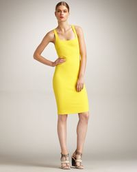 DSquared² | Yellow Racerback Dress | Lyst