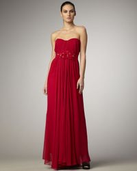 Elie Tahari | Red Khloe Evening Gown | Lyst