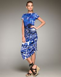 Jean Paul Gaultier | Blue Optic Floral-print Dress | Lyst