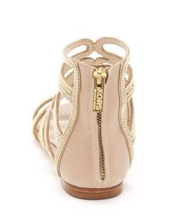 Kors by Michael Kors - Natural Jersey Gladiator Sandal - Lyst