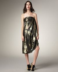 Marc By Marc Jacobs - Black Mimosa Lamé Strapless Dress - Lyst
