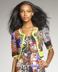 Oscar de la Renta | Multicolor Crocheted Jacket | Lyst