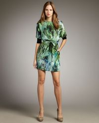 Robert Rodriguez | Green Sketch Print Dress | Lyst