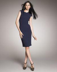 Roland Mouret | Blue Brownlow V-back Dress, Navy | Lyst