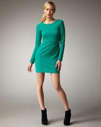 Shoshanna | Green Long Sleeve Dress | Lyst