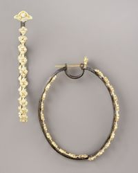 Armenta - Metallic Diamond Hoop Earrings - Lyst