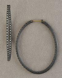 Armenta - Black Diamond Hoop Earrings - Lyst